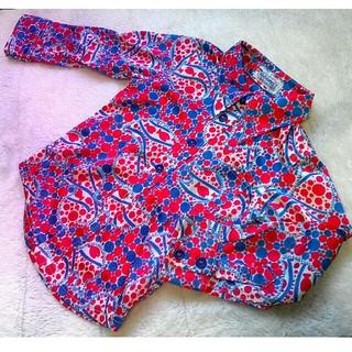 BOOFOOWOO - ☆美品*ブーフーウー 90*レトロかわいいテロテロ素材の長袖シャツ*
