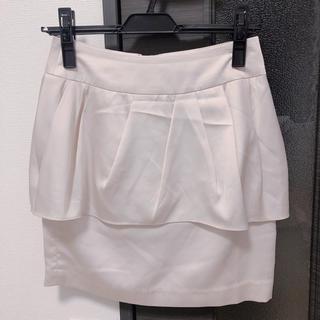 マーキュリーデュオ(MERCURYDUO)のペプラムスカート(ミニスカート)