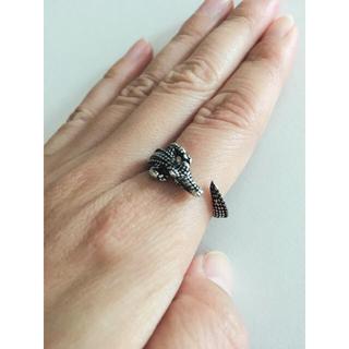 ワニ 爬虫類 指輪 リング シルバー アクセサリー 肉食 クロコダイル(リング(指輪))