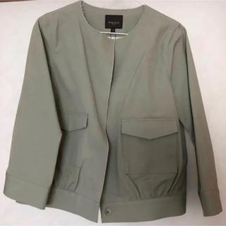 デミルクスビームス(Demi-Luxe BEAMS)のDemi-Luxe BEAMS 七分袖 ノーカラージャケット 未使用品(ノーカラージャケット)