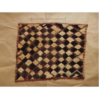 稀少◆ クバ族  ラフィア布   美品  a11 ◆アフリカンテキスタイル(その他)