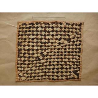 稀少◆ クバ族  ラフィア布   美品  s11 ◆ アフリカンテキスタイル(ラグ)