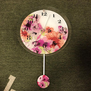 フランフラン(Francfranc)のfrancfranc フラワー 壁掛け時計(掛時計/柱時計)