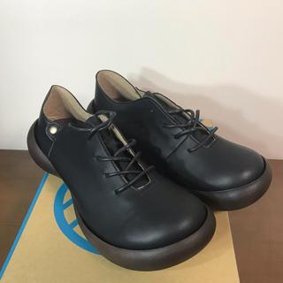 リゲッタカヌー(Regetta Canoe)のリゲッタカヌーレースアップシューズ(黒) Mサイズ【送料込み】(ローファー/革靴)