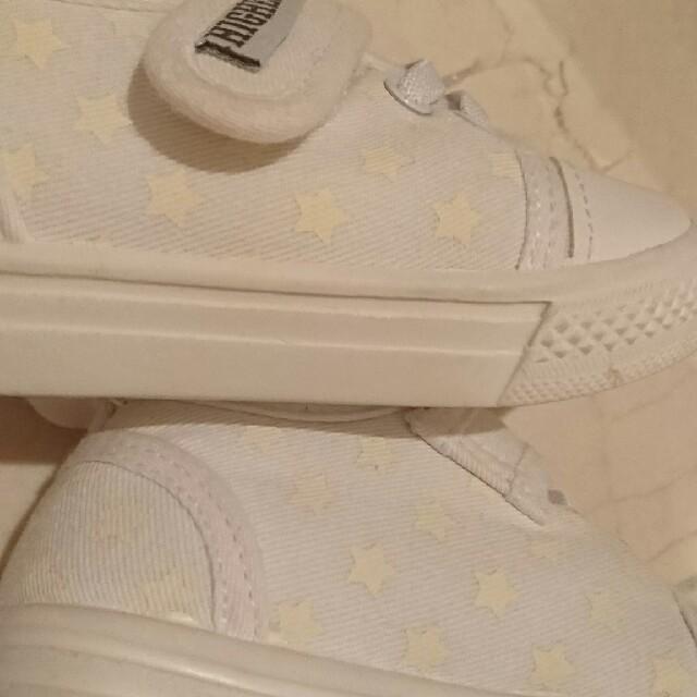 MOONSTAR (ムーンスター)のセール!【14㎝ 】ホワイト  室内履き☆上履き キッズ/ベビー/マタニティのベビー靴/シューズ(~14cm)(その他)の商品写真