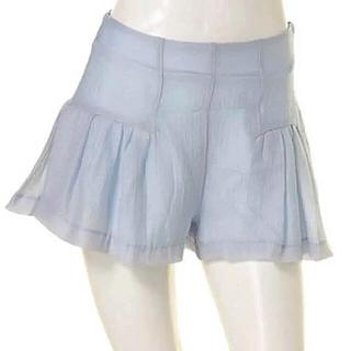 マーキュリーデュオ(MERCURYDUO)の新品 マーキュリーデュオ オーガンジー キュロット スカート ショートパンツ(ミニスカート)