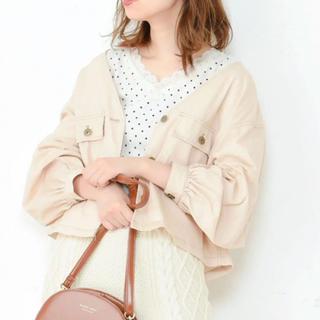 ナチュラルクチュール(natural couture)のナチュラルクチュール 配色ステッチ Vブルゾン  (ブルゾン)