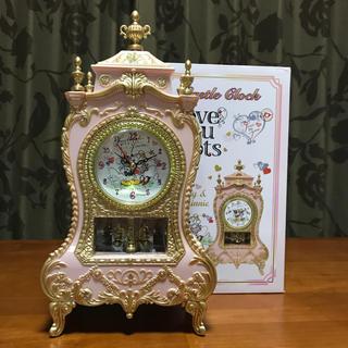 ディズニー(Disney)のDisney 時計 ピンク(置時計)