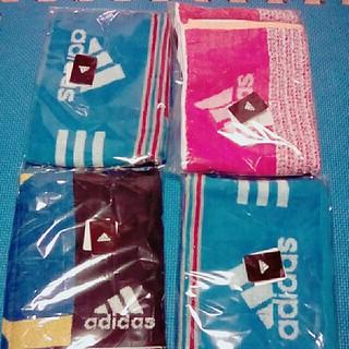 アディダス(adidas)のフェイスタオル4枚(タオル/バス用品)
