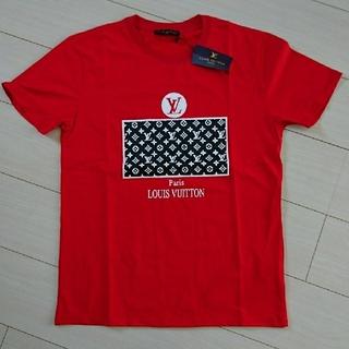 ロゴ Tシャツ 赤 Lサイズ メンズTシャツ レディースTシャツ(Tシャツ/カットソー(半袖/袖なし))
