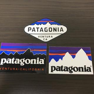 パタゴニア(patagonia)の【patagonia パタゴニア   】公式 ステッカー 3枚セット(ステッカー)