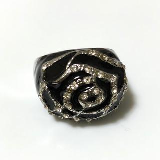 同時購入350円 黒バラ(リング(指輪))