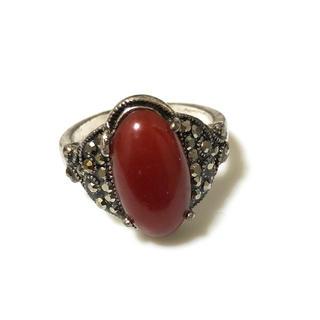 同時購入350円 アンティーク風 赤い石(リング(指輪))
