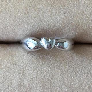 (123)ぷっくりハートのピンキーリング シルバー ヴィンテージ(リング(指輪))