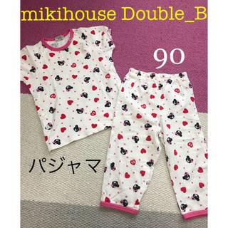 ダブルビー(DOUBLE.B)のミキハウスダブルB 半袖パジャマ 90 女の子(パジャマ)