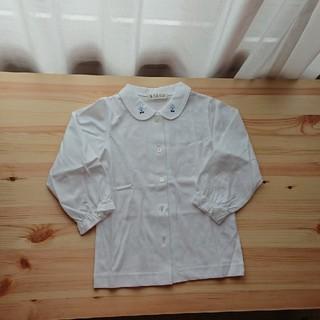 ファミリア(familiar)の未使用☆SACCO 白ブラウス長袖☆100サイズ(ブラウス)
