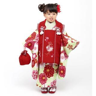 七五三 3歳 女の子 新品 小町 被布着物セット 半衿足袋付き NO28969(和服/着物)