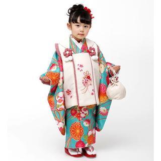 七五三 3歳 女の子 新品 小町 被布着物セット 半衿足袋付き NO28971(和服/着物)