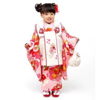 七五三 3歳 女の子 新品 小町 被布着物セット 半衿足袋付き NO28973(和服/着物)