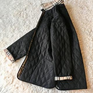 バーバリー(BURBERRY)の新品●バーバリー ロンドン キルティング コート 黒 ブラック 大きいサイズ(ナイロンジャケット)