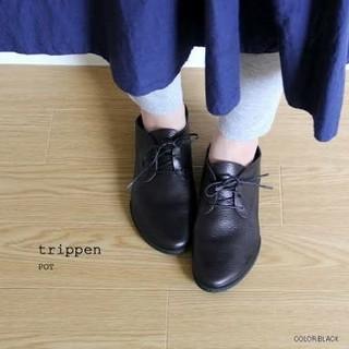 トリッペン(trippen)の新品★trippen トリッペン★pot レザーシューズ 黒 35(ローファー/革靴)