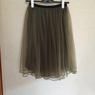 ミスティウーマン(mysty woman)のチュールスカート(ひざ丈スカート)