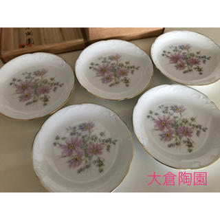 オオクラトウエン(大倉陶園)の大倉陶園 ケーキ皿15cm 5枚 新品(食器)