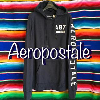 エアロポステール(AEROPOSTALE)のAEROエアロポステールサーフHOODサーマルロングスリーブTシャツXS(Tシャツ/カットソー(七分/長袖))