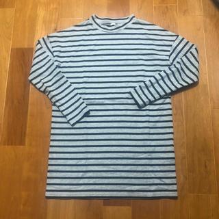 ジーユー(GU)のGUボーダーTシャツS(Tシャツ(長袖/七分))