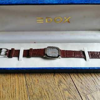 エドックス(EDOX)のEDOXデッドストッククォーツメンズ箱付き動作品(腕時計(デジタル))