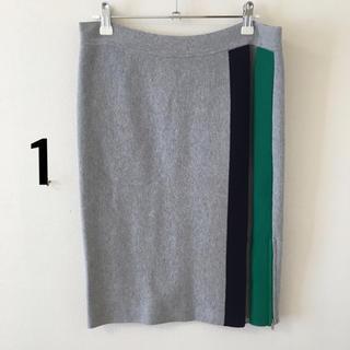 バンドオブアウトサイダーズ(BAND OF OUTSIDERS)の44)1美バンドオブアウトサイダーズBANDOFOUTSIDERSニットスカート(ひざ丈スカート)