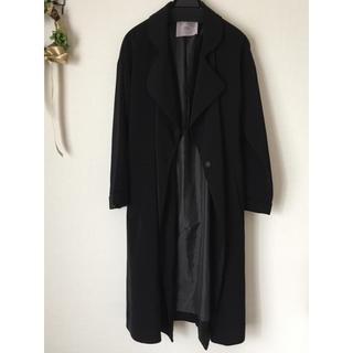 キッカザダイアリーオブ(KIKKA THE DIARY OF)のチェスターコート ロングコート とろみコート 黒 トレンチ(トレンチコート)