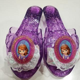 ディズニー(Disney)の【値下げ】プリンセス ソフィア サンダル キラキラ靴(サンダル)