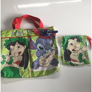 ディズニー(Disney)の幼稚園保育園レッスンバッグスティッチディズニー(バッグ/レッスンバッグ)