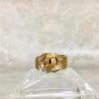 93b39fd19f22 シャネル(CHANEL)の正規品 シャネル 指輪 ゴールド 金銀 ロゴ ダブル ココマーク コンビ