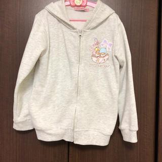 シマムラ(しまむら)の☆130cm☆♡キキララ(リトルツインスターズ)♡グレーのパーカー(Tシャツ/カットソー)