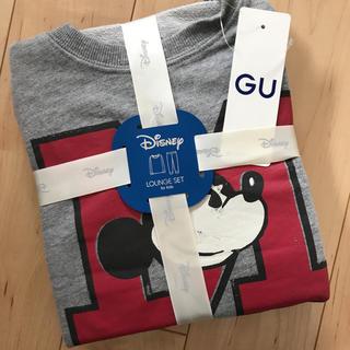 ジーユー(GU)の新品 GU ディズニー ミッキー スウェット 上下セット 110(パジャマ)