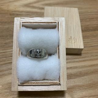 【廃盤】かすう工房 髑髏指輪 シルバーリング17号(リング(指輪))