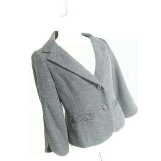 マルティニークルコント(martinique Le Conte)のマルティニーク 春夏ツイードジャケット サイズ1 紺 ママ 入学式(テーラードジャケット)