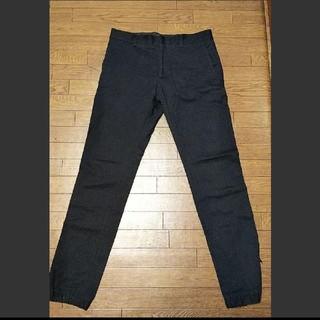 ザラ(ZARA)のZARA パンツ チノ ジョガー ブラック スッキリシルエット 色褪せブラック(チノパン)