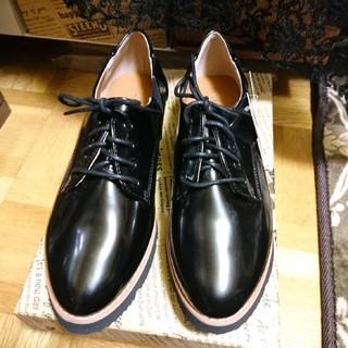 シマムラ(しまむら)の新品「4ホールレースアップシューズM」しまむら(ローファー/革靴)