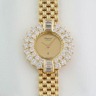 ショパール(Chopard)のショパール☆10/5082Q☆18KYG無垢☆ダイヤモンド☆クォーツ☆中古美品(腕時計)