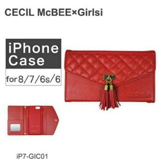 セシルマクビー(CECIL McBEE)の新品・未使用 CECIL McBEE iPhone ケース レッド(iPhoneケース)