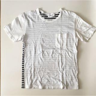 アロイ(ALOYE)のALOYE ボーダー ポケット Tシャツ(Tシャツ/カットソー(半袖/袖なし))
