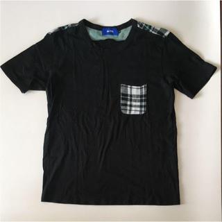 アロイ(ALOYE)のALOYE ブラック ポケット Tシャツ(Tシャツ/カットソー(半袖/袖なし))