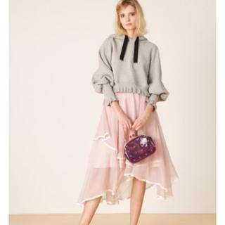 リリーブラウン(Lily Brown)の7980円→4980円 裾パイピングイレヘムスカート(ひざ丈スカート)