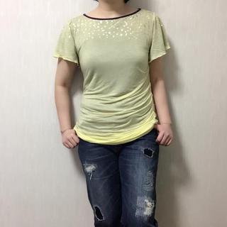 ディープスウィートイージー(deep sweet easy)の【美品】deep sweet easy  裏地付き Tシャツ (Tシャツ(半袖/袖なし))