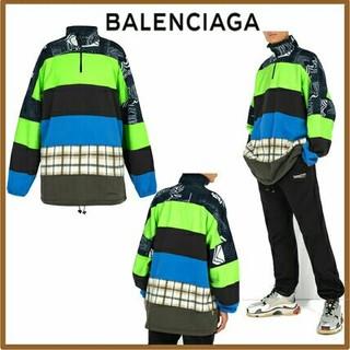 バレンシアガ(Balenciaga)の専用 Balenciaga ハーフジップ フリース スウェット  パッチワーク(スウェット)
