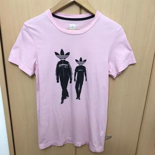 アディダス(adidas)のレア adidas 80年代 復刻 83-Cマン Tシャツ ピンク(Tシャツ/カットソー(半袖/袖なし))
