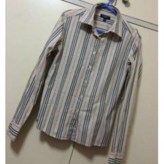 f66efa860e83 バーバリー(BURBERRY)の本物バーバリーのベージュのストライプのシャツM(シャツ